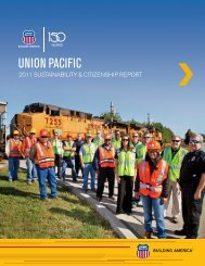 2011 Sustainability and Citizenship Report - Union Pacific