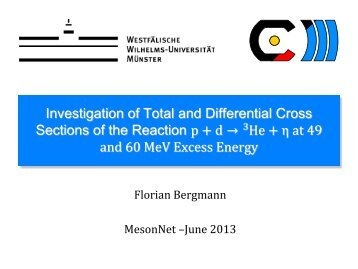 Investigation of Total and Differential Cross Sections of the Reaction ...