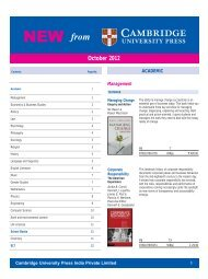 PDF File - Cambridge University Press India