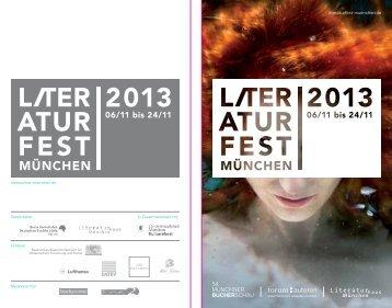 Programmheft 2013 - Literaturfest München