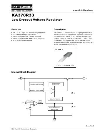 KA378R33 Low Dropout Voltage Regulator - Fairchild Semiconductor