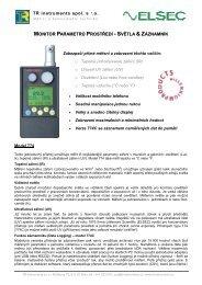 Elsec 774 info - TR instruments
