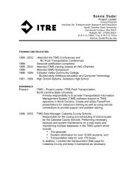 Bonnie Sluder resume - Institute for Transportation Research and ...