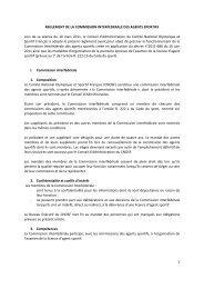 Le règlement de la Commission Interfédérale des Agents Sportifs
