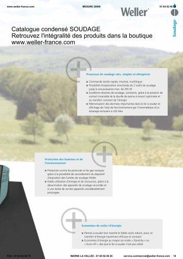 nouveau catalogue soudage weller - Appareils de mesure