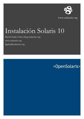 Instalación Solaris 10