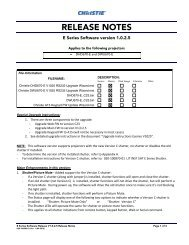 E Series v1.0.2.5 Software Release Notes - Christie Digital Systems
