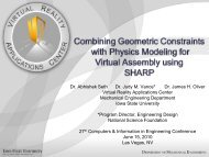 Combining Geometric Constraints with Physics Modeling for Virtual ...