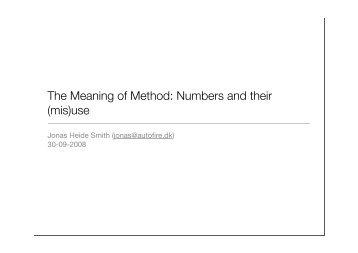 The Meaning of Method - Jonas Heide Smith