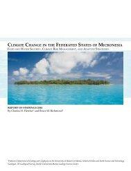 Climate change in FSM main report - Sea Grant College Program