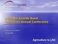 Ed Rister - 2013 Rio Grande Basin Initiative Meeting