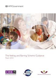 The Vetting and Barring Scheme Guidance - Digital Education ...