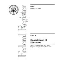 Office of Postsecondary Education - U.S. Department of Education