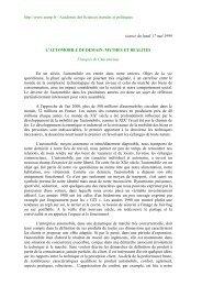 L'automobile de demain : mythes et réalité - Académie des sciences ...
