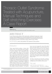 Thoracic Outlet Syndrome Treated with Acupuncture, Manual ...