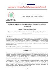 Synthesis and Antimicrobial Activity of some novel Formazan