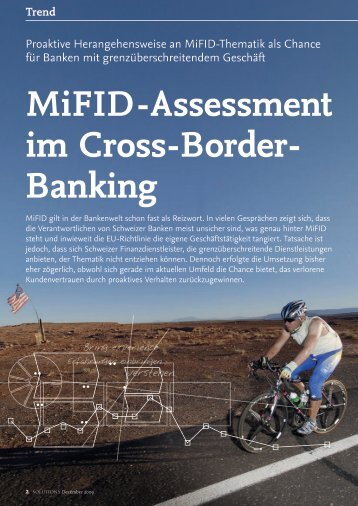 MiFID-Assessment im Cross-Border- Banking - solutionproviders