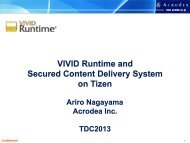 VIVID Runtime and Secured Content Delivery System on Tizen