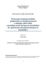 Evalvacija izvajanja politike podjetništva in konkurenčnosti v ...