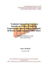Tradução Automática Estatística baseada em Frases e Fatorada ...