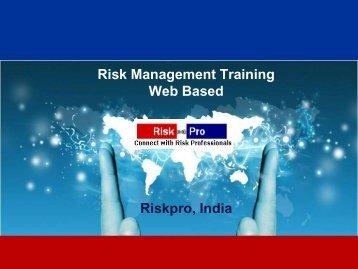 Risk Management Training Web Based Riskpro, India
