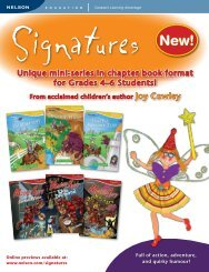 Unique mini-series in chapter book format for Grades 4–6 Students!