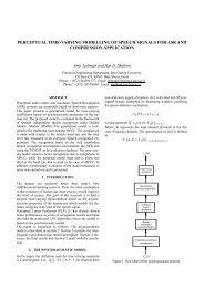 perceptual time-varying modelling of speech signals for ... - Eurasip