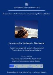 Gli Italiani in Germania - Ministero degli Affari Esteri