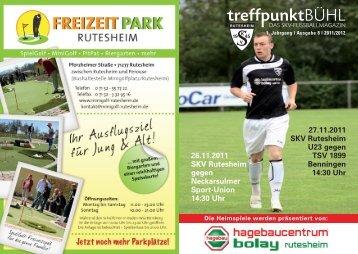 26.11.2011 SKV Rutesheim gegen Neckarsulmer Sport-Union 14:30 ...