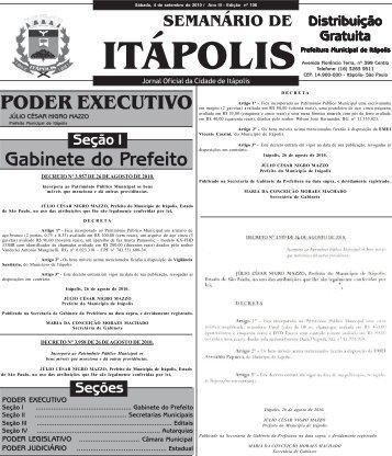 PODER EXECUTIVO Gabinete do Prefeito - Prefeitura Municipal de ...