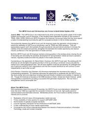 News Release - 4G Americas