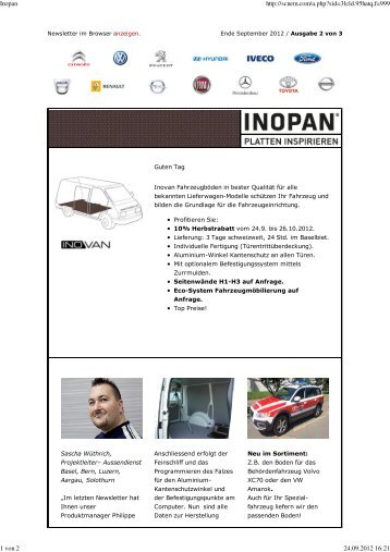 Newsletter 2 Invoan 19.9.2012 - Inopan