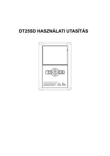 DT25SD HASZNÁLATI UTASÍTÁS