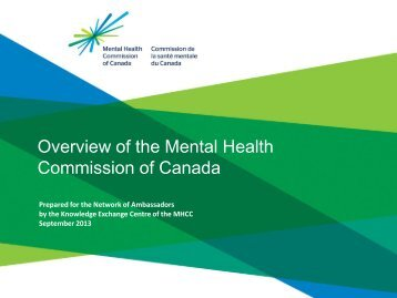 Overview of the Mental Health Commission of Canada