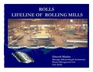 ROLLS LIFELINE OF ROLLING MILLS - IIM