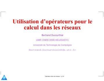 Calcul dans un réseau - Heudiasyc - UTC