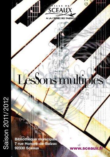 S aiso n 2011/ 2012 - Bibliothèque municiaple de Sceaux - Ville de ...