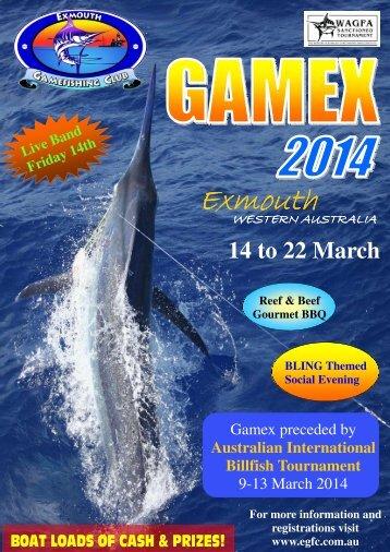 Gamex 2014 brochure - Exmouth Game Fishing Club