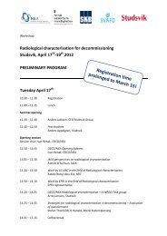 Preliminary programme - Studsvik