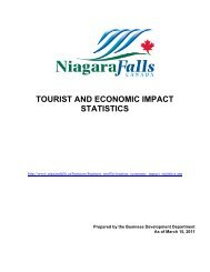 tourist and economic impact statistics - Niagara Falls, Ontario, Canada