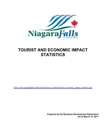 tourist and economic impact statistics - Niagara Falls, Ontario, Canada