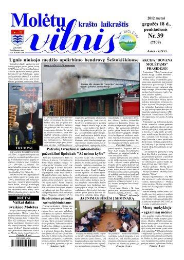 2012 m. gegužės 18 d., penktadienis Nr.39 - VILNIS
