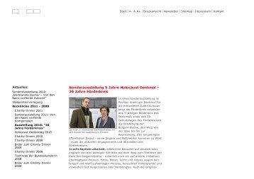 Sonderausstellung 5 Jahre Holocaust Denkmal – 20 ... - janfrontzek.de