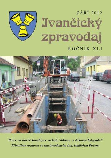 ZÁŘÍ 2012 Ivančický zpravodaj ROČNÍK XLI Obr. č. 1 ... - Webnode