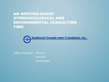 what is a stranded well? - Arizona Hydrological Society