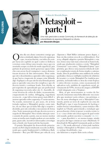 Metasploit – parte I - Linux New Media