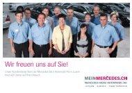 Wir freuen uns auf Sie! - Mercedes-Benz Automobil AG