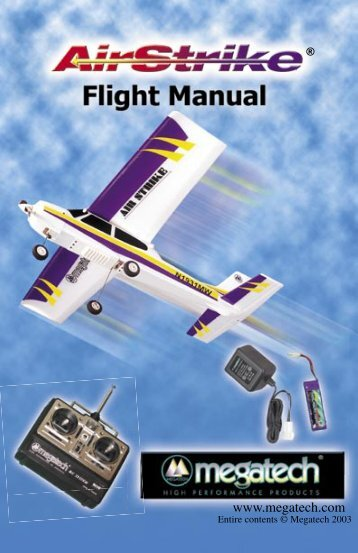 AirStrike Instruction Manual - High Definition Radio Control