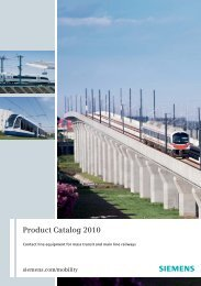 Product Catalog 2010 - Contact line equipment for mass ... - Siemens