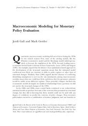 Macroeconomic Modeling for Monetary Policy Evaluation